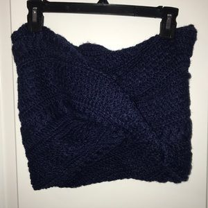Gap Navy Blue Cable Knit Infinity Scarf